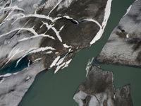 Een close-up van de rand van een gletsjer.  © Sebastian Vervenne
