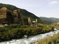 De welbekende wachttorens van Svaneti. © Johannes Jansen