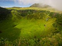 Een groene krater in het binnenland. © Billy Herman