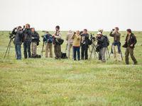 Groepsfoto tijdens het vogelen op de vlakten. © Billy Herman