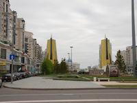 Het centrum van Astana. © Machiel Valkenburg