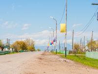 Een blik in het dorp aan de voet van de Altai. © Machiel Valkenburg