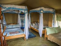De tenten zijn ruim en comfortabel met voldoende plaats voor maximaal 2 fotografen per tent. © Billy Herman