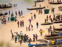 C'est très peuplé sur cette plage. © Billy Herman
