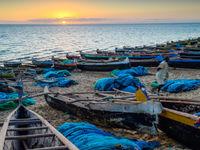 Le soleil se couche sur la côte de Madagascar. © Billy Herman