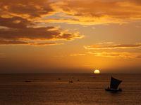 Coucher de soleil sur la côte ouest de l'île. © Samuel De Rycke