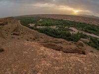 Het spectaculaire landschap rond Oued Massa. © Billy Herman