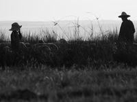 Herders kuieren door de moeraslanden van Merja Zerga. © Billy Herman