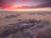 Lever de soleil dans la steppe © Billy Herman