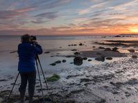 Fotograaf met lage sluitertijd. © Johan Van de Watering