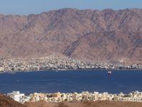 Vue sur Eilat et Aquaba depuis les montagnes © Noé Terorde