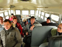 Beeld in onze bus. © Yves Adams