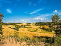 Kleinschalige landschappen zijn typerend voor het binnenland van Spanje. © Rudi Debruyne