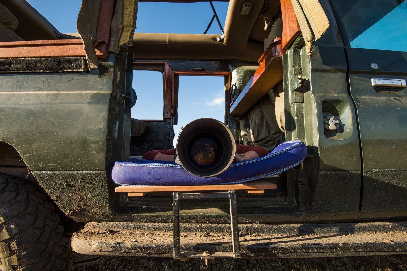 Door het transport om te bouwen kun je gebruik maken van een uniek en uitzonderlijk laag standpunt. © Billy Herman