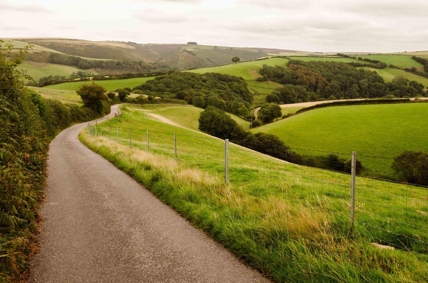 Zicht op het platteland in Exmoor. © Hans Debruyne