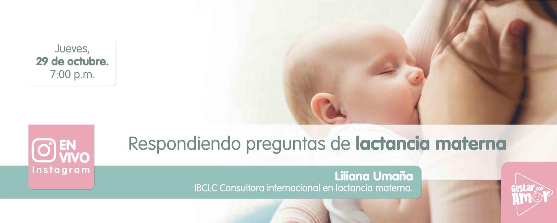Instagram live: Respondiendo preguntas de lactancia materna
