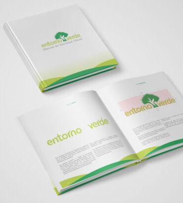 Manual de Identidad Visual de Entorno Verde, diseñado por Galanés Agencia de Comunicación.