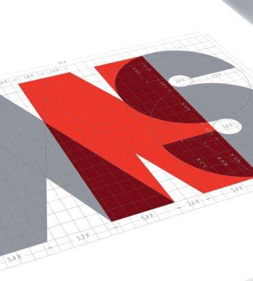Planimetría del logo de ANS Comunicaciones, diseñado por Galanés Agencia de Comunicación.