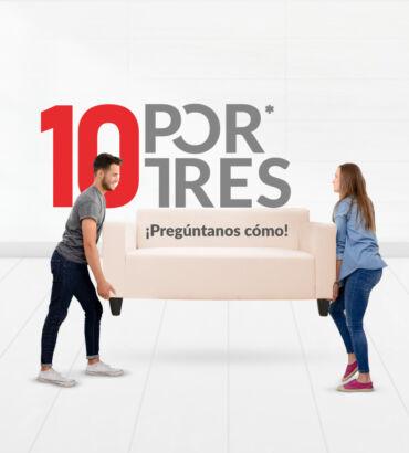 Campaña 10 POR TRES - Grupo Domus- por - Galanés Agencia de Comunicación