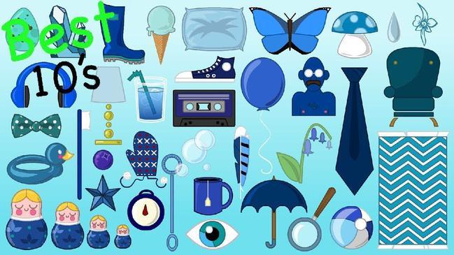 اشياء باللون الازرق - كراسة