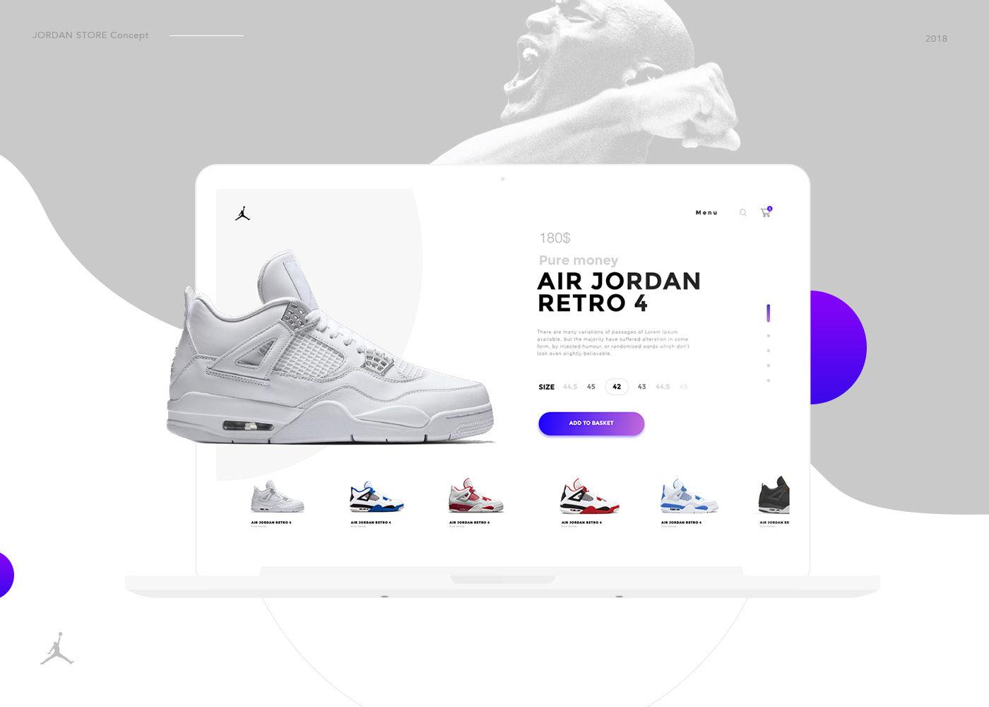 Jordan Retro 4 App Concept