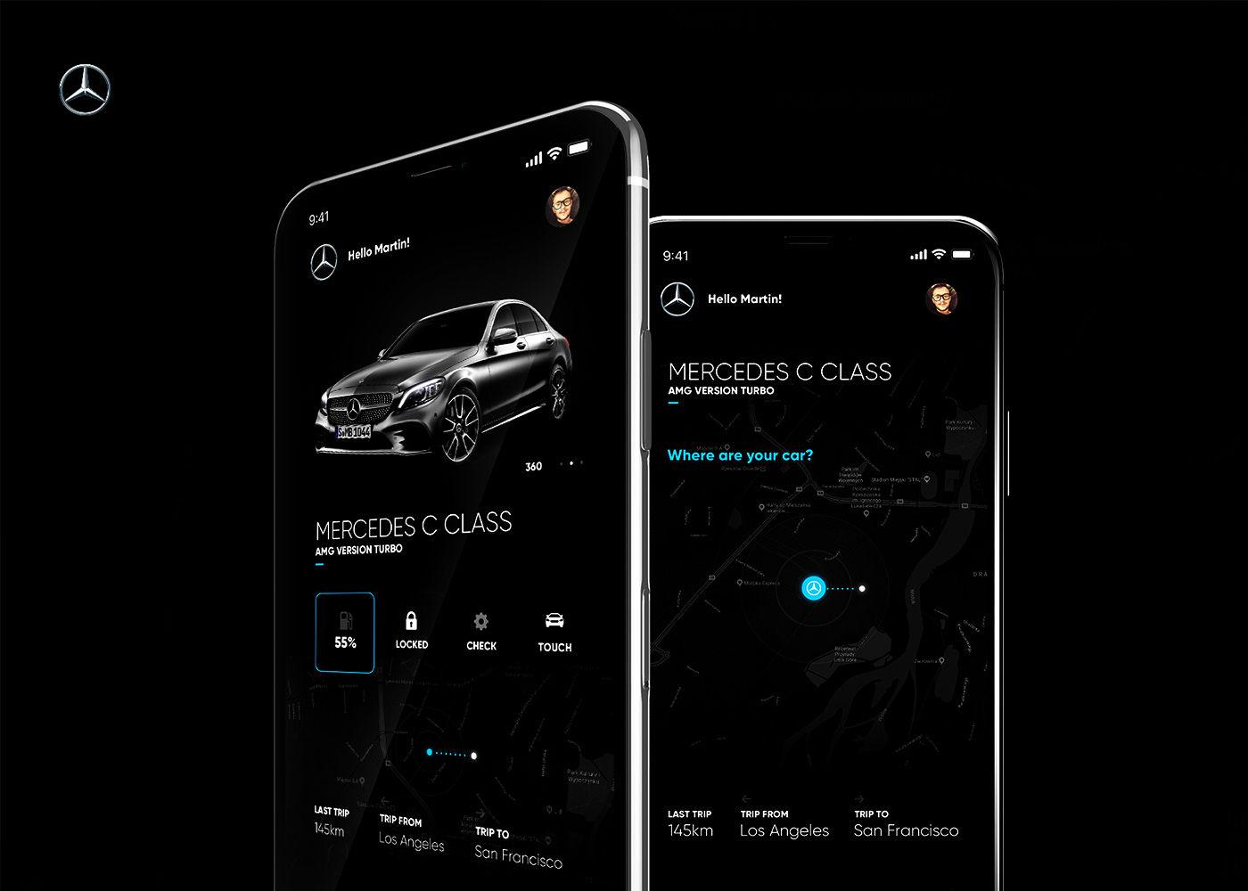 Mercedes Me App Redesign Concept