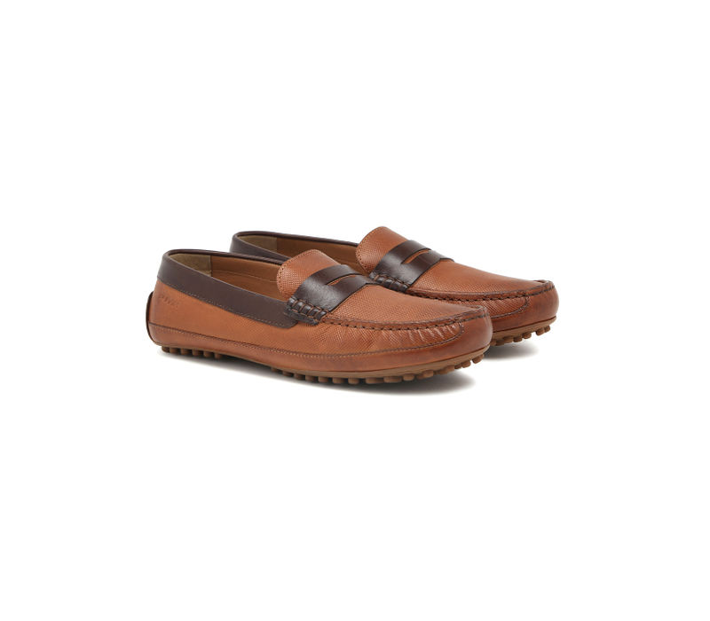 Driving shoes - Tan & brown