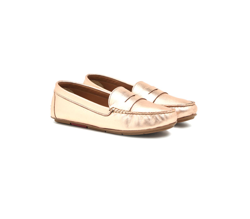Women's Driving Shoes- Rose gold
