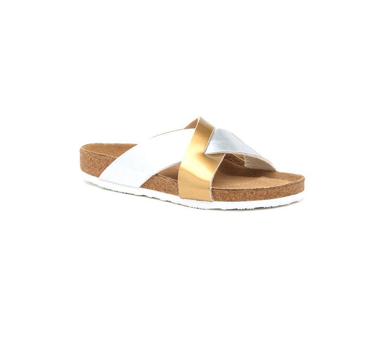 Gold Slip-ons