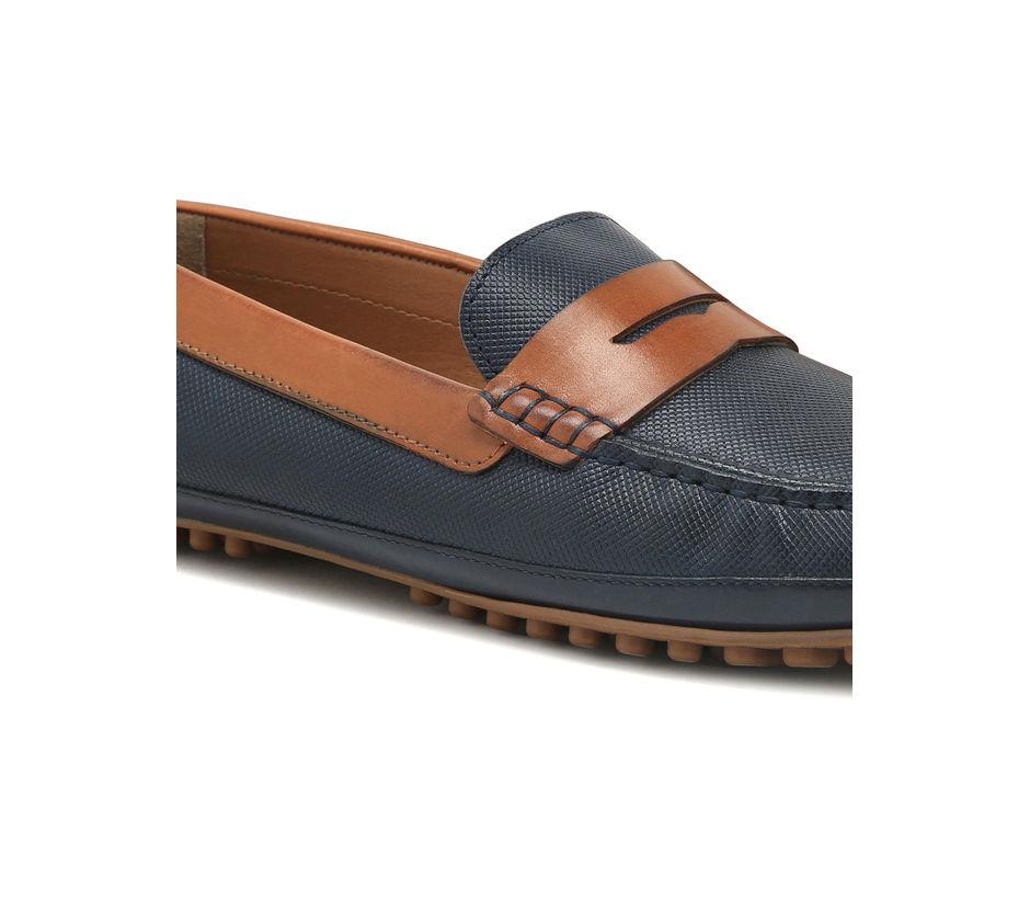 Driving shoes - Navy & Tan