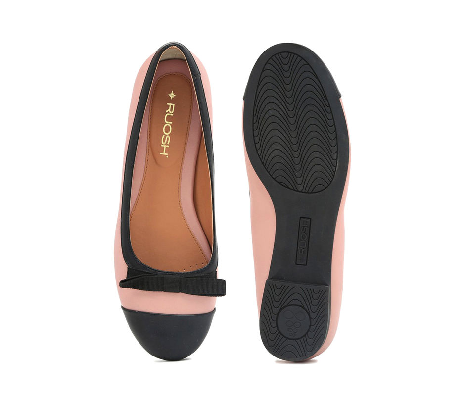 Pink and Black Ballerinas