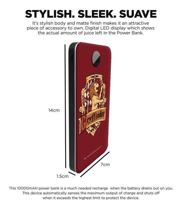 Crest Gryffindor - 10000 mAh Universal Power Bank