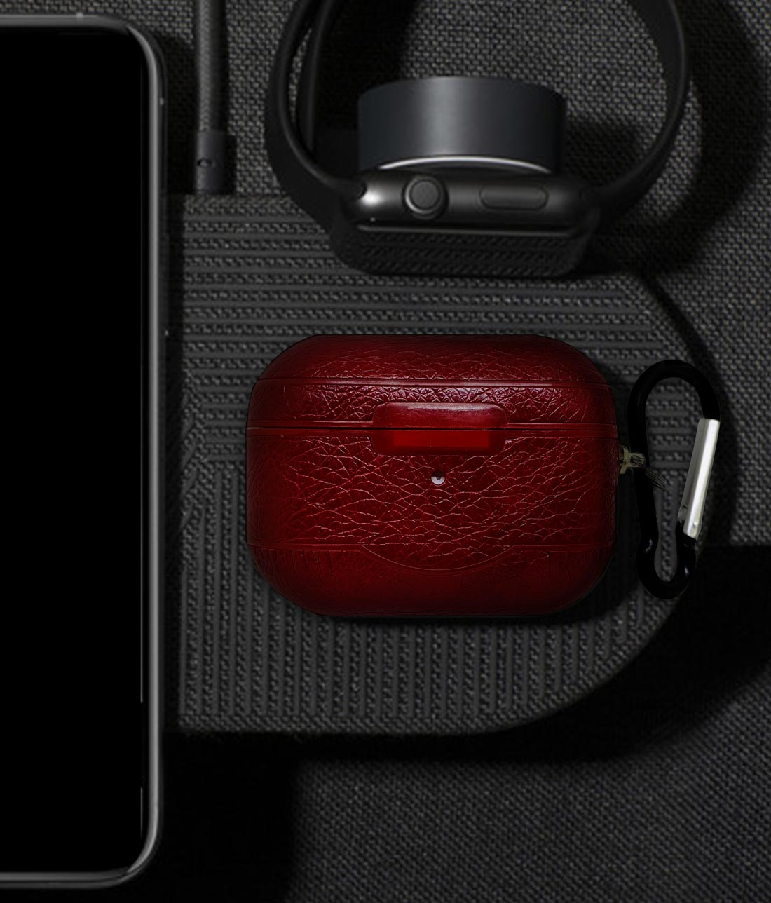 Leather Case Red - AirPods Pro Case