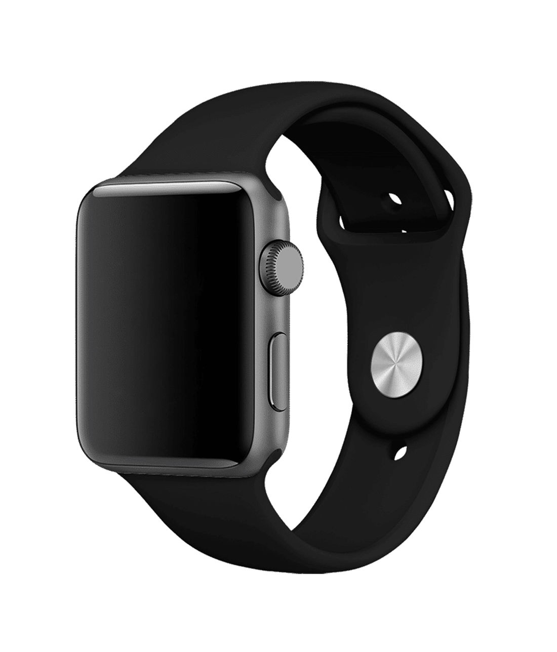 Bold Black - Silicone Apple Watch Band  (38 / 40 MM)