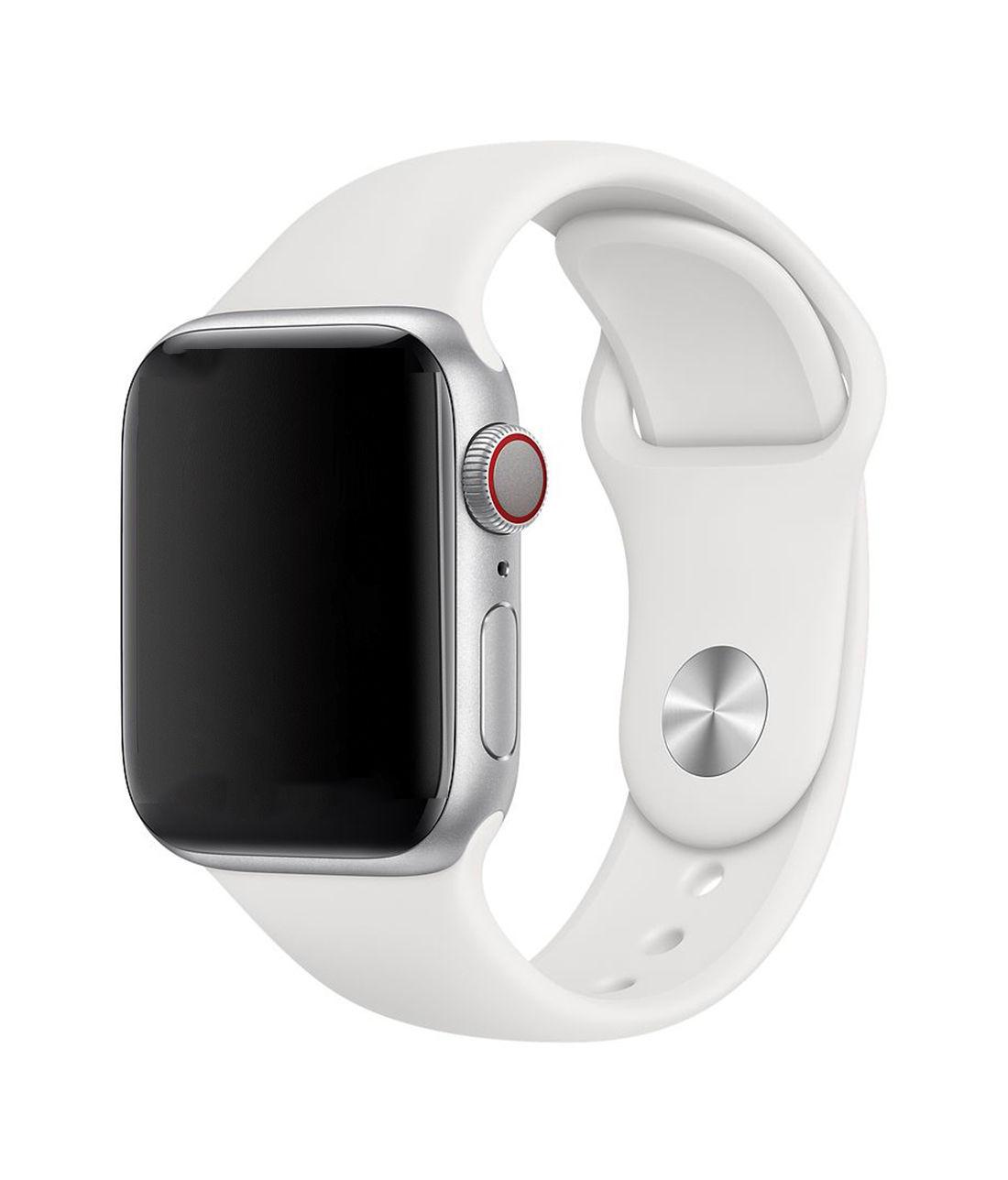 Pristine White - Silicone Apple Watch Band  (38 / 40 MM)