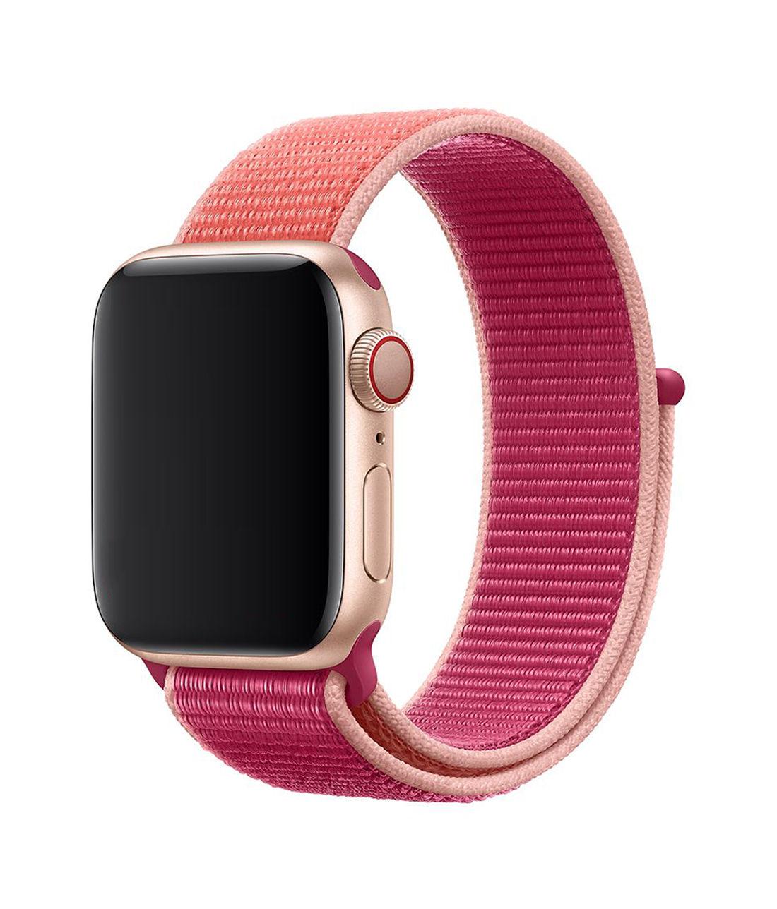 Rasberry Parfait - Woven Nylon Apple Watch Band (38 / 40 MM)
