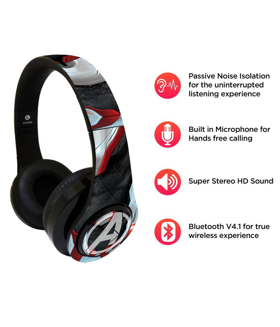 Endgame Suit Avengers - Decibel Wireless On Ear Headphones