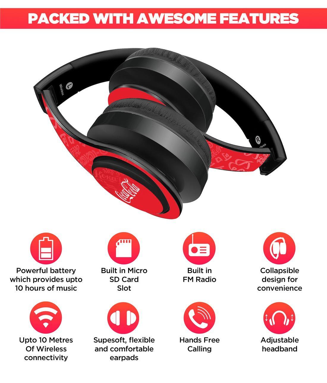 I Speak Coke Red - Decibel Wireless On Ear Headphones