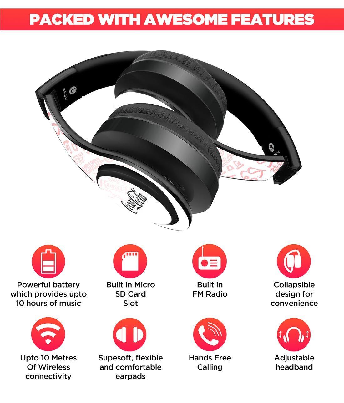 I Speak Coke White - Decibel Wireless On Ear Headphones