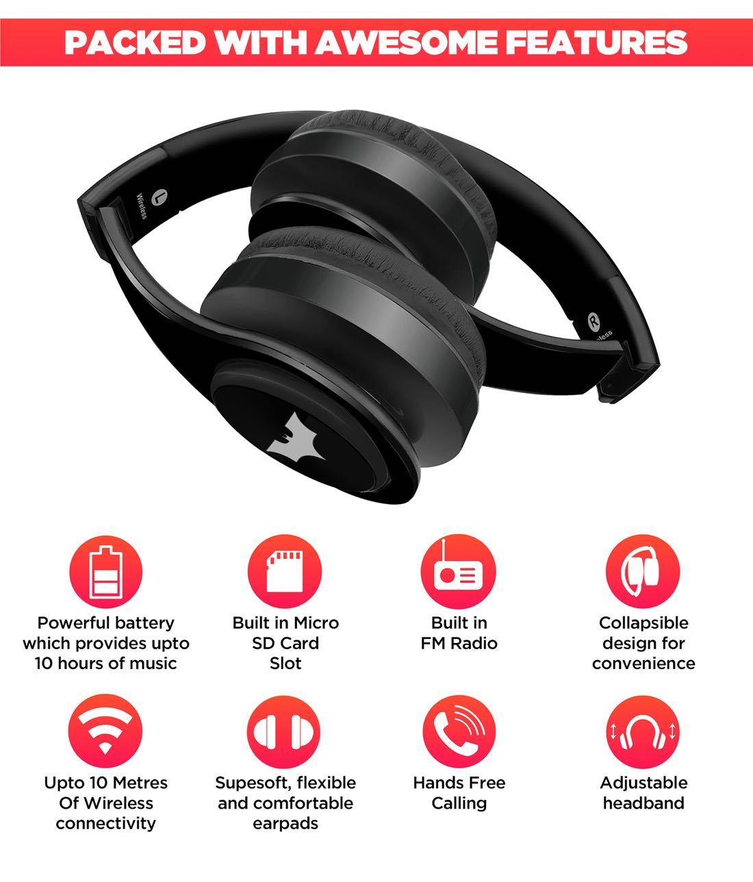 The Dark Knight - Decibel Wireless On Ear Headphones