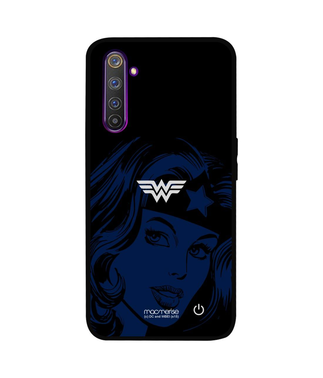 Silhouette Wonder Woman - Lumous LED Phone Case for Realme 6 Pro