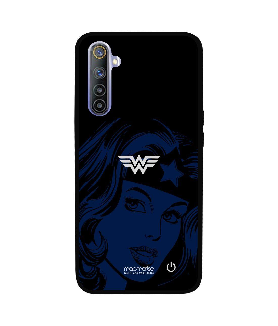 Silhouette Wonder Woman - Lumous LED Phone Case for Realme 6