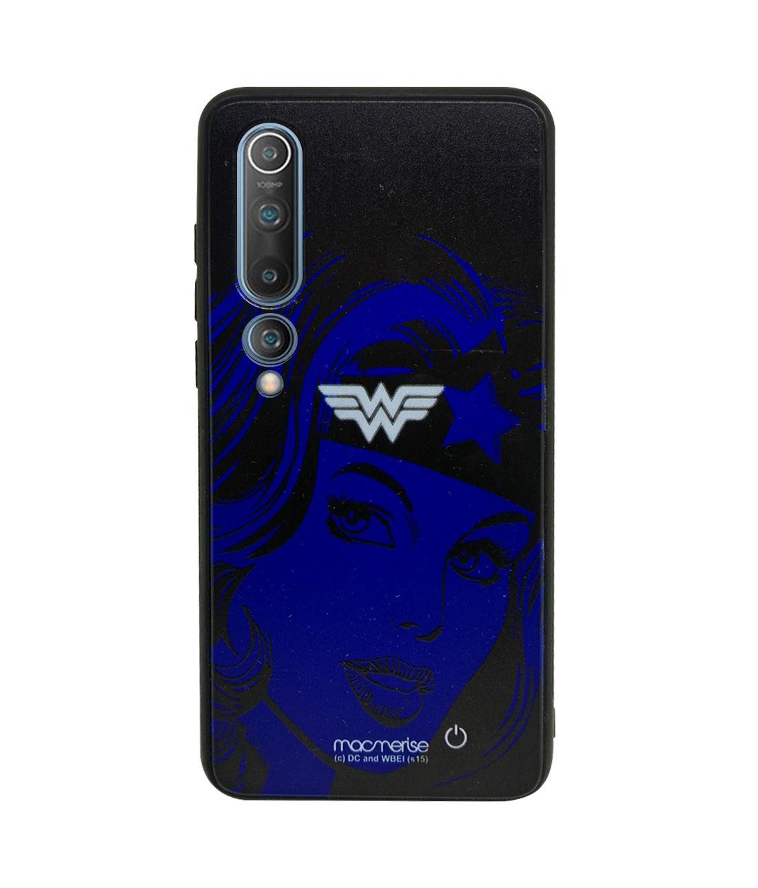 Silhouette Wonder Woman - Lumous LED Phone Case for Xiaomi Mi 10