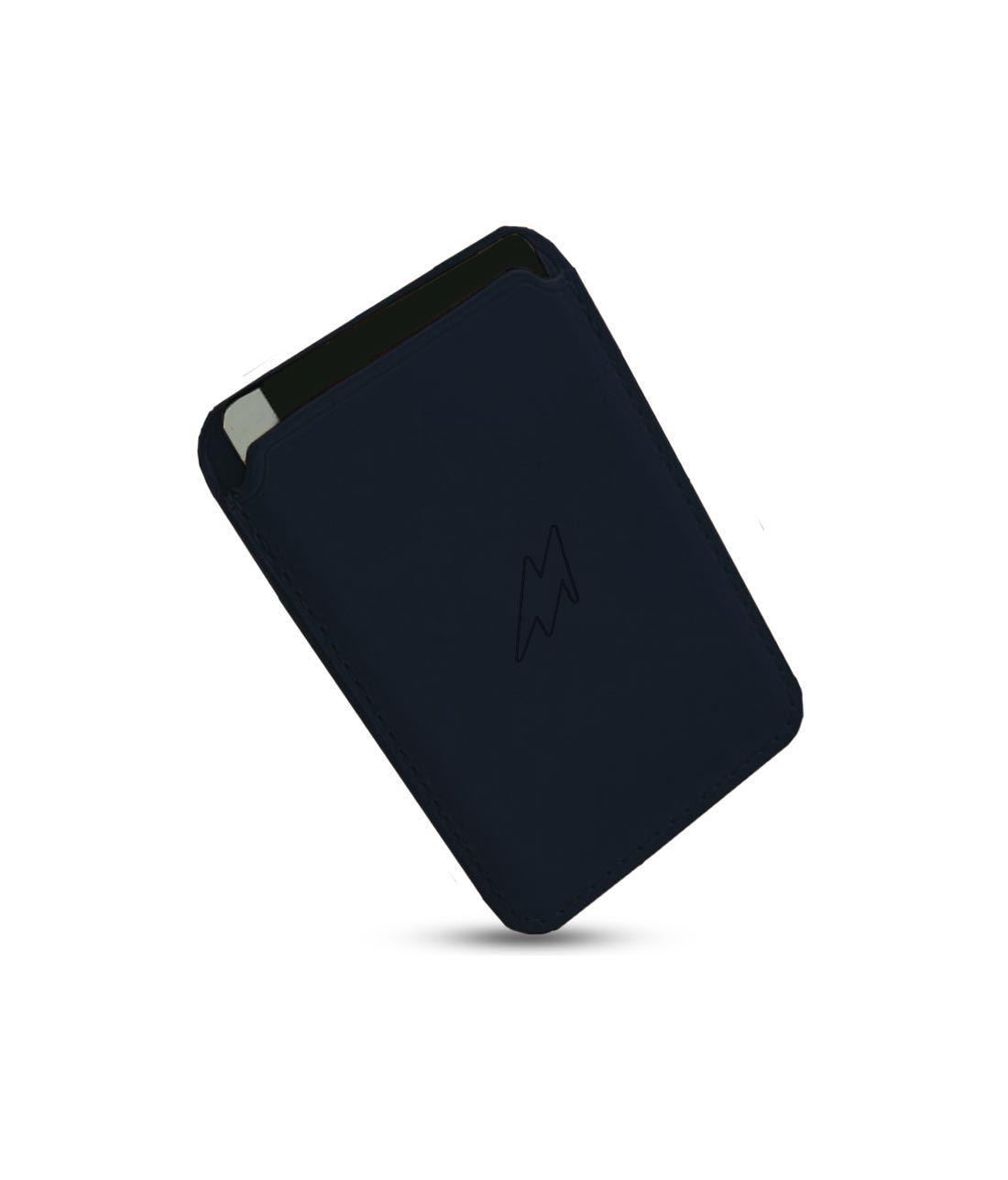 Leather Case Blue - Magsafe Card Case