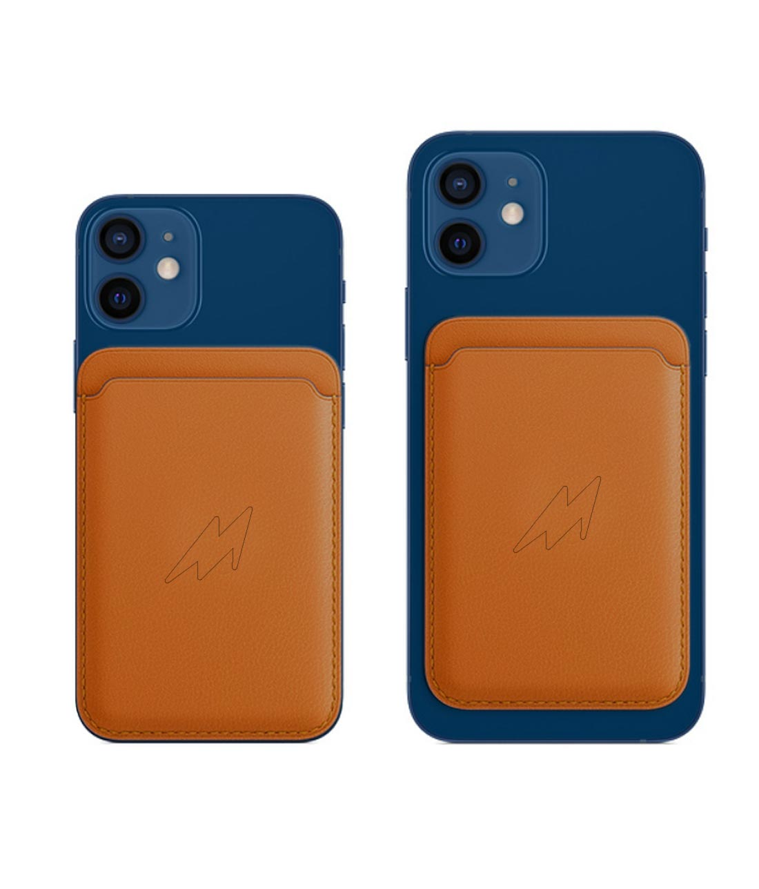 Leather Case Orange - Magsafe Card Case