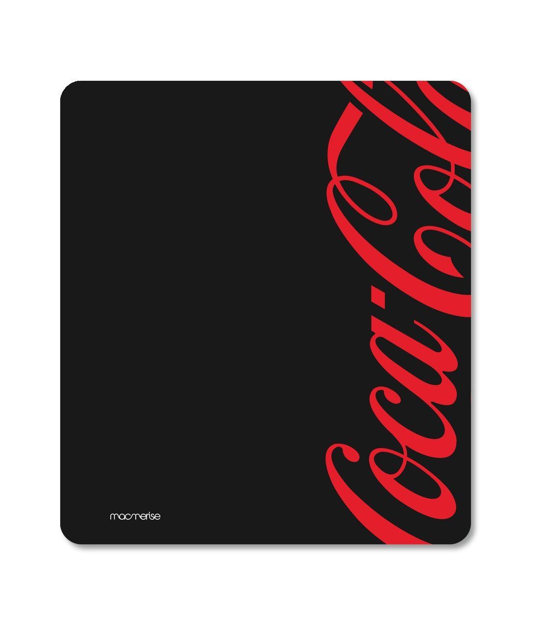 Coke Black Red - Macmerise Mouse Pad