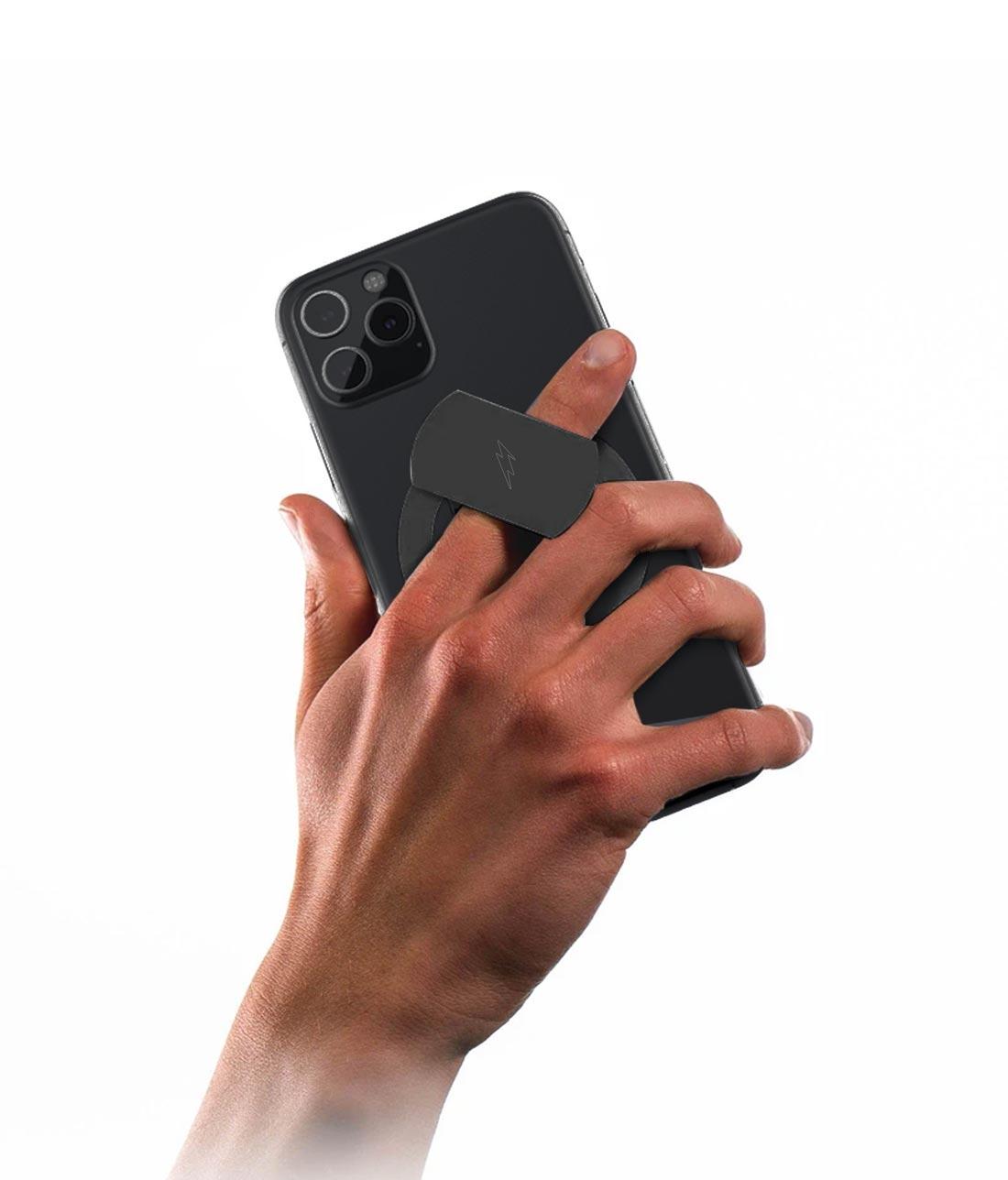 Bold Black - Phone Holder