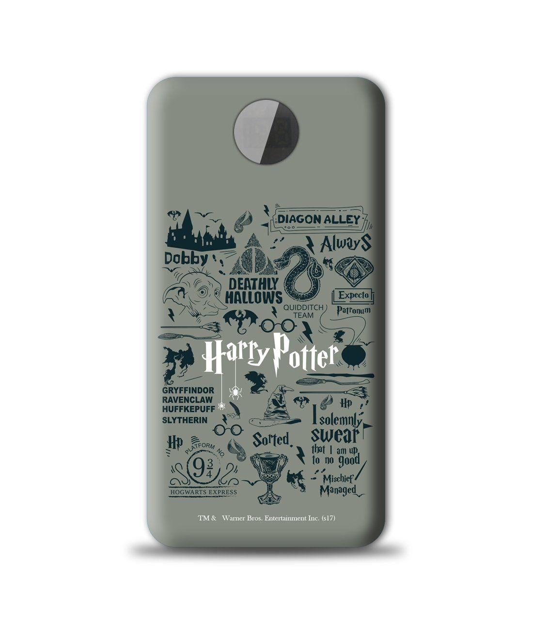 Harry Potter Infographic Grey - 10000 mAh Universal Power Bank