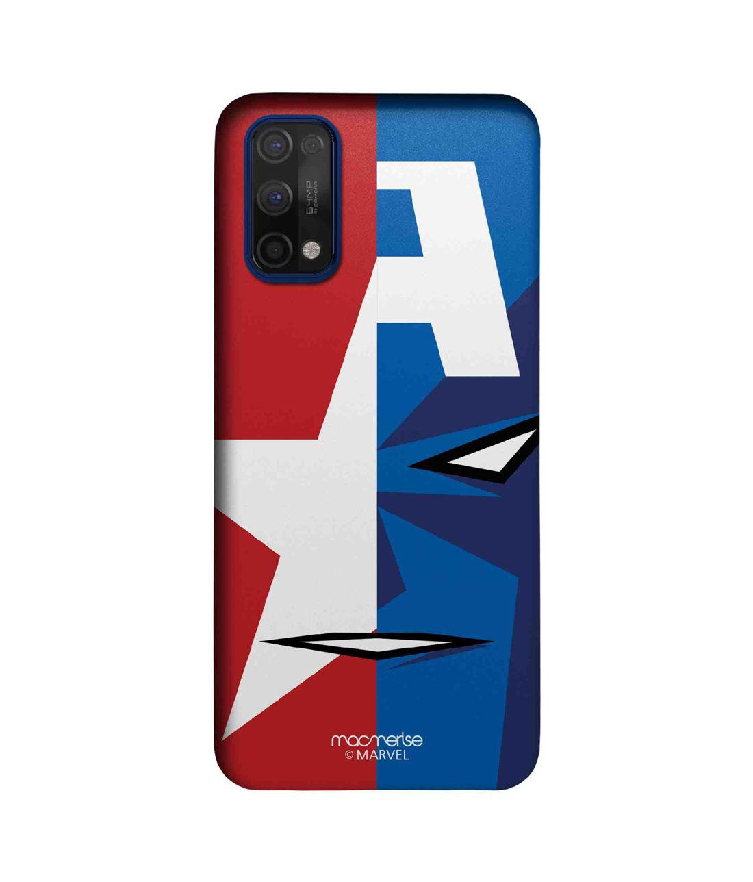 Face Focus Captain America - Sleek Case for Realme 7 Pro