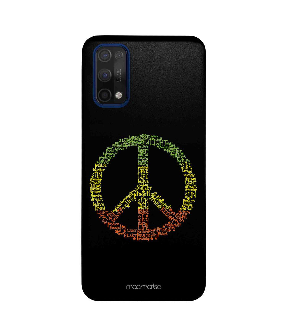 Symbol of Peace - Sleek Case for Realme 7 Pro